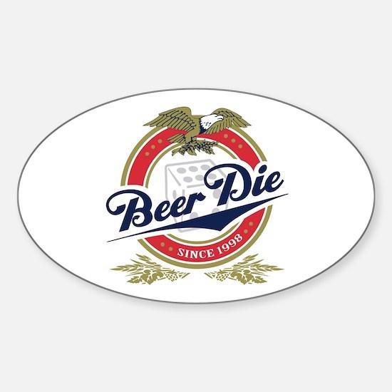 Beer Die Oval Decal