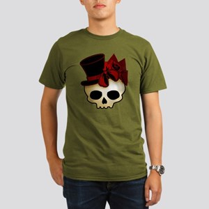 Cute Gothic Skull In Top Hat Organic Men's T-Shirt