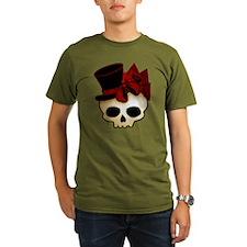 Cute Gothic Skull In Top Hat Organic Men's T-Shirt