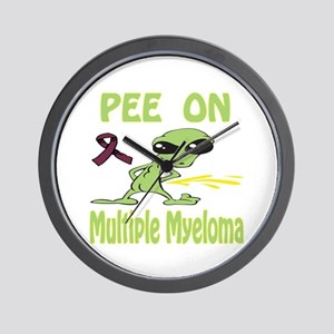 Pee on Multiple Myeloma Wall Clock