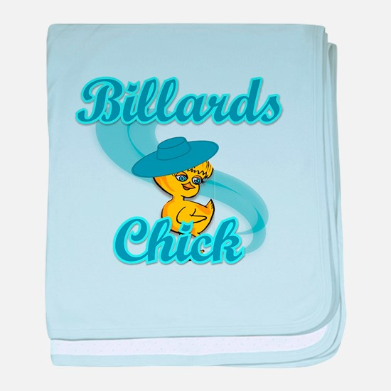 Billiards Chick #3 baby blanket