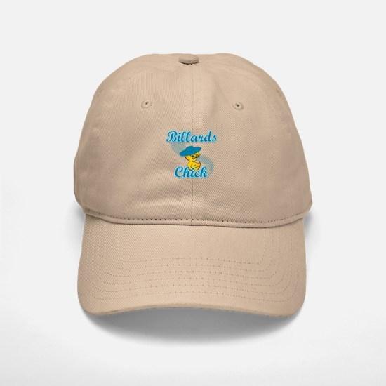 Billiards Chick #3 Baseball Baseball Cap