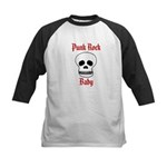 Punk Rock Baby - Skull Kids Baseball Jersey