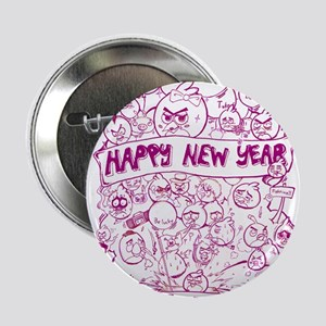 """happy new year with angry birds 2.25"""" Button"""