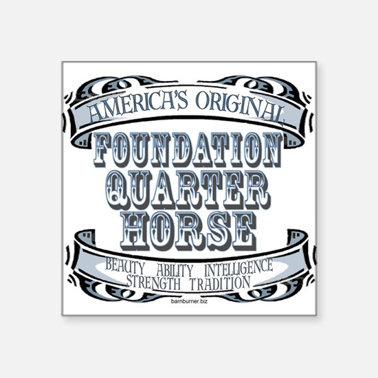 """3-Foundation - Banner.png Square Sticker 3"""" x 3"""""""