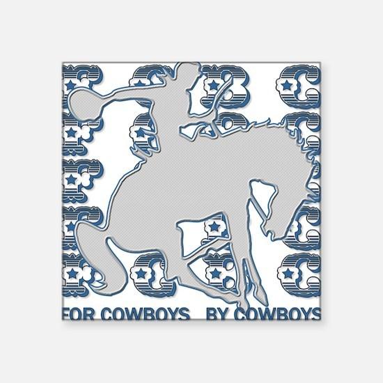 "FCBC Metal Cowboy.png Square Sticker 3"" x 3"""