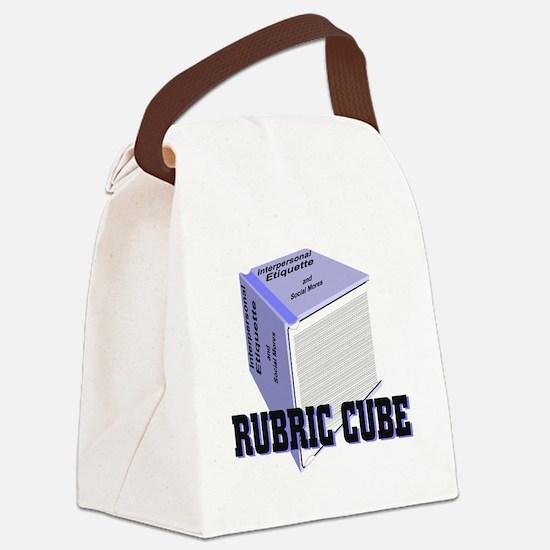 Rubric Cube - Etiquette Canvas Lunch Bag