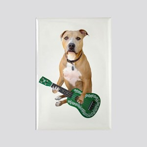 Pit Bull Ukulele Rectangle Magnet