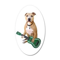 Pit Bull Ukulele Wall Decal