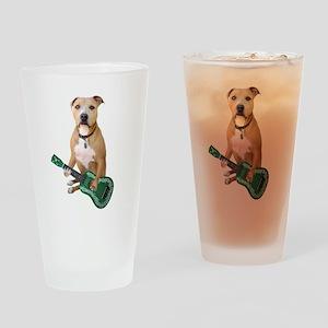 Pit Bull Ukulele Drinking Glass