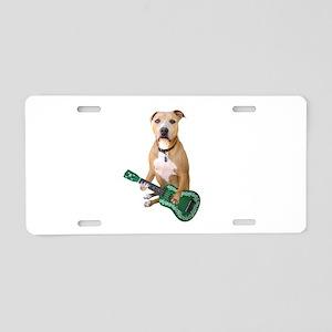 Pit Bull Ukulele Aluminum License Plate