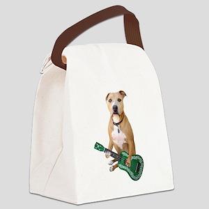 Pit Bull Ukulele Canvas Lunch Bag