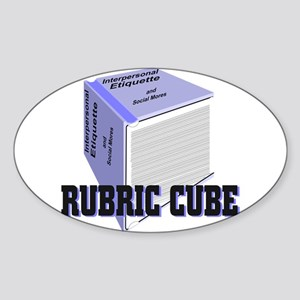 Rubric Cube - Etiquette Sticker (Oval)