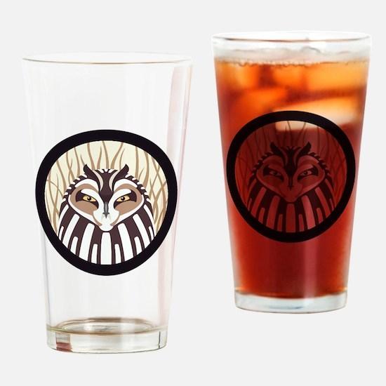 Short-eared Owl Drinking Glass