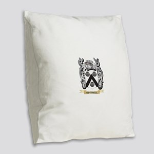 Cottrell Family Crest - Cottre Burlap Throw Pillow