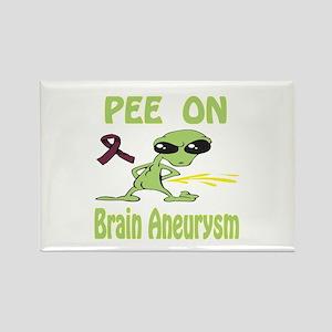 Pee on Brain Aneurysm Rectangle Magnet