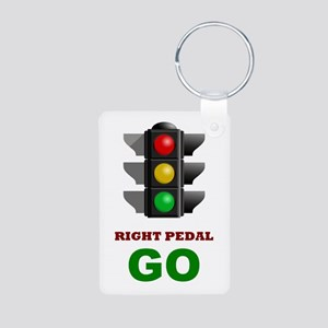 Traffic Light - GO Aluminum Photo Keychain