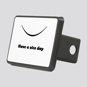 Have a nice day with a smile Rectangular Hitch Cov