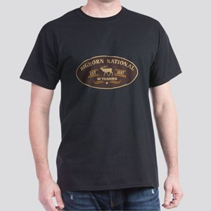 Bighorn Belt Buckle Badge Dark T-Shirt