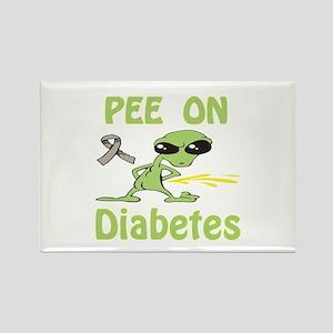 Pee on Diabetes Rectangle Magnet
