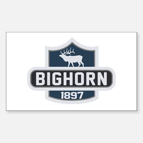 Bighorn Nature Badge Sticker (Rectangle)