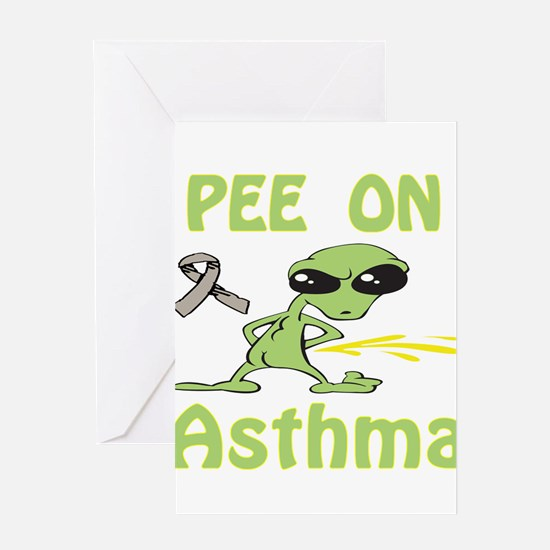 Pee on Asthma Greeting Card