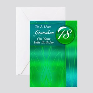 Grandson 18th Birthday Card Stylish