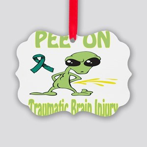 Pee on Traumatic Brain Injury Picture Ornament