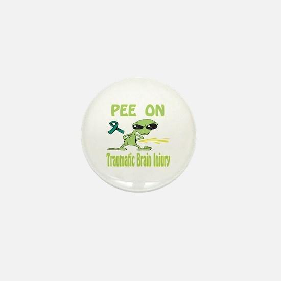 Pee on Traumatic Brain Injury Mini Button