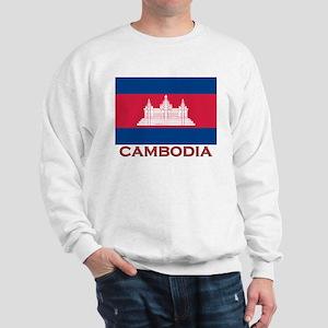 Cambodia Flag Gear Sweatshirt