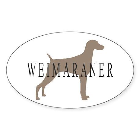 Weimaraner Greytones Oval Sticker