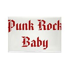Punk Rock Baby Rectangle Magnet