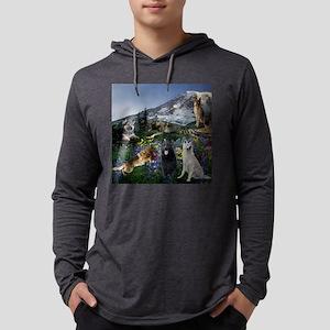 German Shepherd Country Mens Hooded Shirt