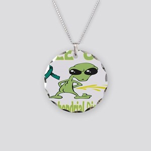 Pee on Mitochondrial Disease Necklace Circle Charm