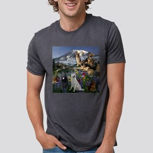 German Shepherd Country Mens Tri-blend T-Shirt