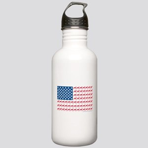 Greyhound Patriotic American Flag Stainless Water