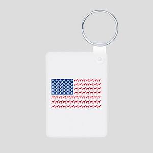 Greyhound Patriotic American Flag Aluminum Photo K