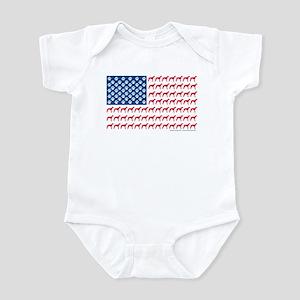 Greyhound Patriotic American Flag Infant Bodysuit