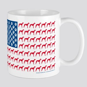 Greyhound Patriotic American Flag Mug