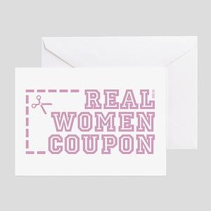REAL WOMEN COUPON Greeting Card