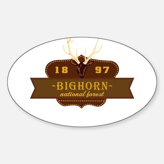Bighorn National Park Crest Sticker (Oval)