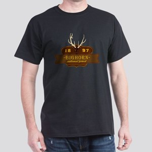 Bighorn National Park Crest Dark T-Shirt