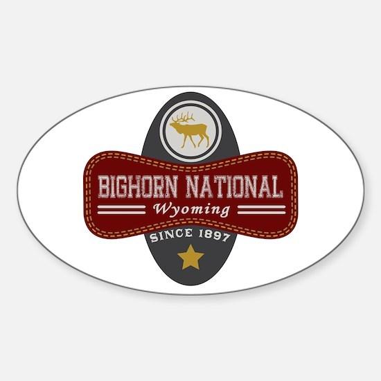 Bighorn Natural Marquis Sticker (Oval)
