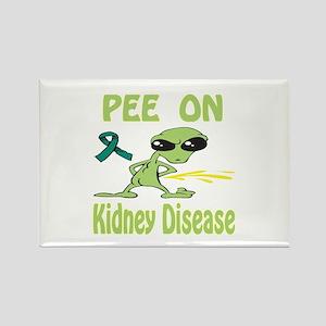 Pee on Kidney Disease Rectangle Magnet
