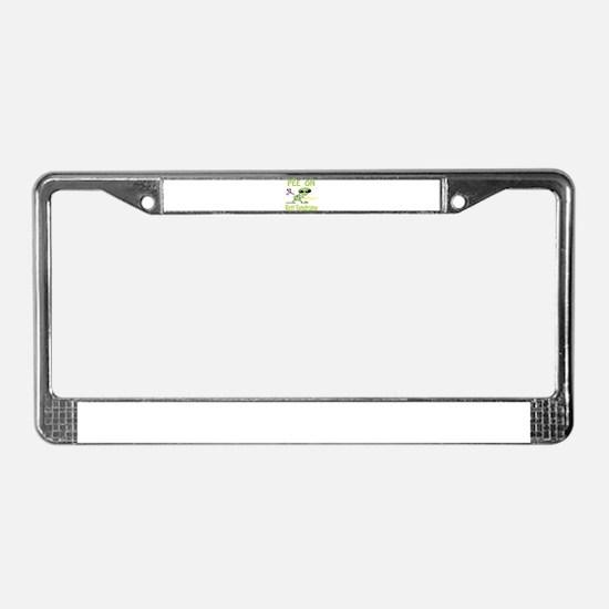 Pee on Rett Syndrome License Plate Frame
