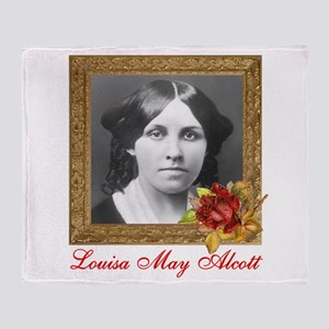 Louisa May Alcott Throw Blanket