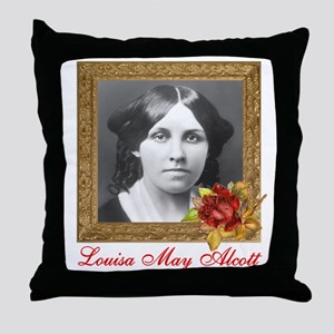 Louisa May Alcott Throw Pillow