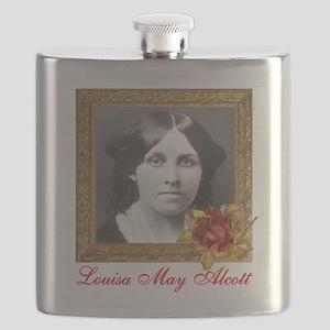Louisa May Alcott Flask