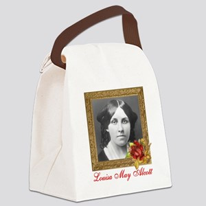 Louisa May Alcott Canvas Lunch Bag