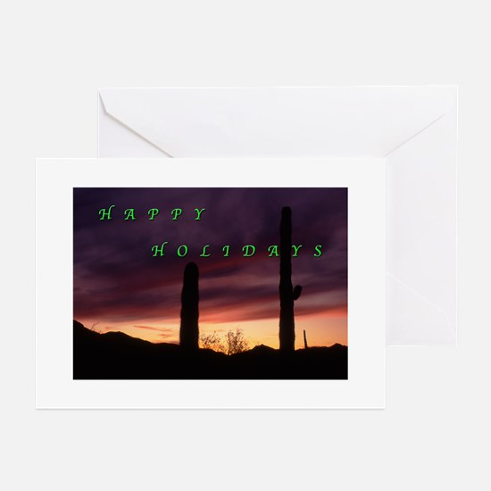 Sunset, South Mountain, Phoenix Holiday Cards Gree